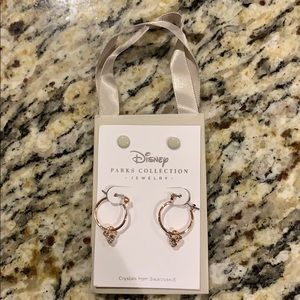 BNWT Disney Parks Rose Gold Mickey Earrings